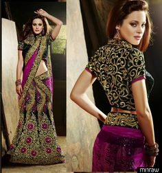 Gorgeous bridal lehenga choli.