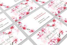 Biglietto da visita floreale, Business Card Design, Business Card, tessera personale, contattare Card, biglietto da visita, Card floreale, fiore Business Card