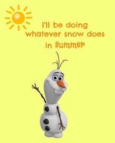 Frozen Olaf 'In Summer' Digital Print by RachelsMagicalPrints