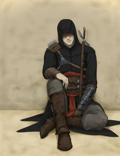 "Altair's black robes. ""black Altair"" by doubleleaf on DeviantArt.com."