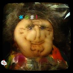 Grandmother & I used to make pantyhose dolls when I was little.....    finding this one in an old trunk scared the frikity frack outta me.