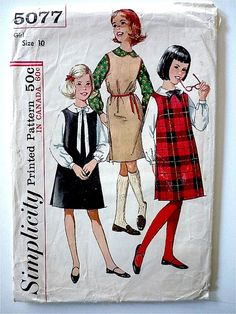 Vintage Sewing Pattern Girl's 60's Partially by Freshandswanky, $4.00