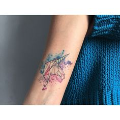 #tattoo #barisyesilbas #watercolor #geometric #watercolortattoo #color #ink #tattrx #abstract #unicorn