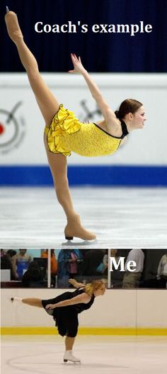 Freaking hilarious and how most adults look doing a spiral. Figure Skating Funny, Figure Skating Quotes, Figure Skating Dresses, Tonya Harding, Ice Skating Quotes, Kristi Yamaguchi, Figure Ice Skates, Skate 3, Ice Dance