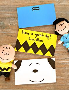 FREE Printable Peanuts Inspired Lunch Box Cards | AD #HorizonLunch | Add one of these Peanuts inspired lunch box cards to your little one's lunch box. Choose between Lucy, Snoopy, and Charlie Brown