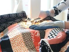 That's my son Ben up there with the first Twin size quilt I ever made in 2008! Block tutorial can be found here (click here). I received a question about quilting a large quilt on a hom…