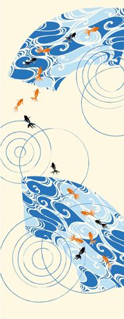 手ぬぐい総柄 水紋金魚|永楽屋 ONLINE SHOP
