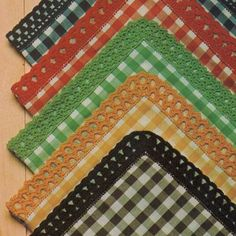 Barrados de Croche: Barrados Croche Coloridos