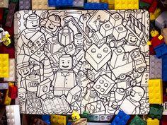 Lego drawing