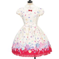♥ Angelic pretty ♥ Candy Treat jumper skirt http://www.wunderwelt.jp/products/detail9007.html If you like this item please check this page ♡ #sweetlolita