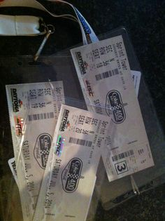 Our Daytona tickets arrived today, super excited!