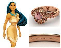 aneis de noivado inspirados nas princesas - Pesquisa Google
