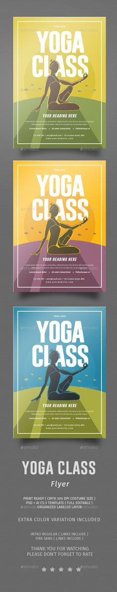 Fabulous Yoga Class Flyer PSD Template • Only available here ➝ http://graphicriver.net/item/yoga-class-flyer/14178801?ref=pxcr