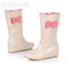 Pastel Patent Rain Boots - $46.49 (iOffer)