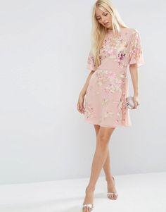 ASOS | ASOS PREMIUM Chinoiserie Embroidered Mini Dress