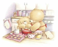 Cooking with Mum ♡ Forever Friends Tatty Teddy, Cute Images, Cute Pictures, Illustration Mignonne, Friend Cartoon, Teddy Bear Pictures, Blue Nose Friends, Mothers Day Special, Friends Image