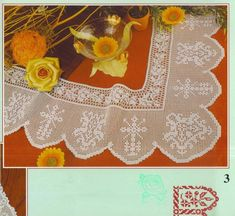 View album on Yandex. Filet Crochet, Crochet Lace, Crochet Placemats, Altar Cloth, Christian Symbols, Rubrics, Needlework, Crochet Patterns, Embroidery
