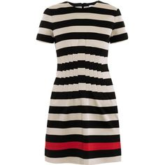 Diane Von Furstenberg Yazmine stripe jersey dress ($523) ❤ liked on Polyvore