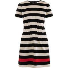 Diane Von Furstenberg Yazmine stripe jersey dress ($523) ❤ liked on Polyvore