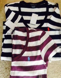 Czech Polo Ralph Lauren Striped Long Sleeve Tee Womens 36ebd 726b6
