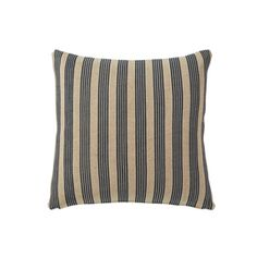 Kyuu Outdoor Cushion Cover & Pad, Large - Multi Stripe - Navy