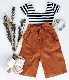 Extra Off Coupon So Cheap USA Toddler Kids Baby Girls Striped Tops T-shirt Pants Leggings Outfits Clothes Kids Outfits Girls, Toddler Outfits, Girl Outfits, Casual Outfits, Cute Outfits, Fashion Outfits, Ropa Under Armour, Under Armour Outfits, Legging Outfits