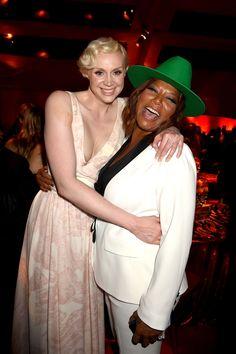 Gwendoline Christie and Queen Latifah   - HarpersBAZAAR.com