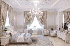 Luxury Villa Interior Design In Abu Dhabi Bedding Master Bedroom, Room Ideas Bedroom, Home Bedroom, Bedroom Decor, Luxury Bedroom Sets, Luxurious Bedrooms, Luxury Homes Interior, Home Interior Design, Cute Room Decor