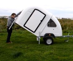 This little camper folds out in seconds