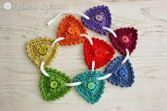 Botón de fieltro - Crochet Patterns Colorful: Botón Bunting - Patrón ganchillo GRATIS