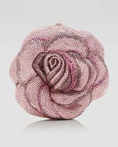 JUDITH LEIBER- New Rose American Beauty Clutch