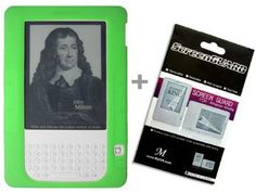 Green Color Amazon Kindle 2 E-Book Reader Silicone Rubber Skin Case + Kindle2 Anti Scratch LCD Screen Protector by MyGift. $6.41. This Kindle 2 silicone case protects your Amazon Kindle 2 from scratches and prevent your Amazon Kindle 2 from dust. It allows easy accessy to keypad and all outlets and controls. 9 choices of colors are available: Clear, Black, White, Red, Blue, Purple, Orange, Pink, Green. Comes with FREE Kindle 2 Clear Anti-scratch Screen Protecto...