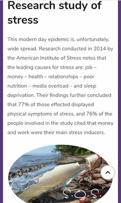 77% effected by stress displayed physical symptoms... see site to learn 60 SYMPTOMS OF STRESS