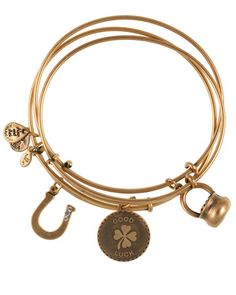 We love the Lots of Luck customizable and stackable bracelets from Alex and Ani. Perfect grad gift!