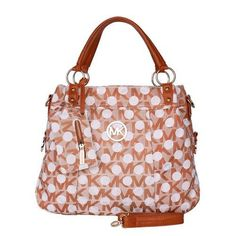 Michael Kors Classic Monogram Dotted Large Orange Totes