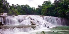 Wasserfall Aqua Azul in Mexiko