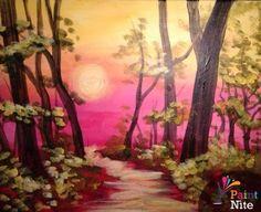 Spring Road. - www.PaintNite.com - #DrinkCreatively #PaintNite #Art