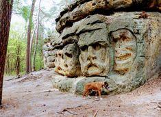 Czech Republic, Mount Rushmore, Travelling, Lion Sculpture, Statue, Mountains, Places, Bohemia, Europe