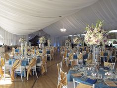 Event design by Kathy Piech-Lukas of Your Dream Day, linens by Prime Time Party Rental, flowers by Floral V Designs, fabric by Ambience Events.