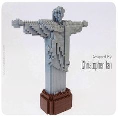 nanoblock Cristo Redentor... currently on display in my Hong Kong exhibition