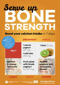 • • Boost your ‪#‎calcium‬ intake in 7 days • • Today's tips can take you to 1330 mg of calcium! Calcium is a major building block of your skeleton. Use the online IOF Calcium Calculator to estimate your average daily intake. If you are having trouble reaching your recommended levels, use these tips from the IOF Bone-friendly Recipes to easily boost your calcium, getting on track to stronger, healthier bones.