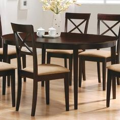 7 pc Dark Cappuccino finish dining room table set with so... https://www.amazon.com/dp/B000XBROZA/ref=cm_sw_r_pi_dp_x_yD72ybY3XXZ1J