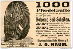 Original-Werbung/ Anzeige 1903 - 1000 PFERDEKRÄFTE / HÖLZERNE SEILSCHEIBEN / RAUM NÜRNBERG ca. 100 x 65 mm