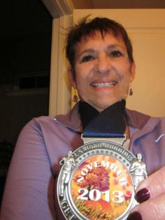"""Photo of the day from Bernardine Donato.  """"I love it when the mail lady brings me my US Road running medal!!!""""  http://USRoadRunning.com/"""