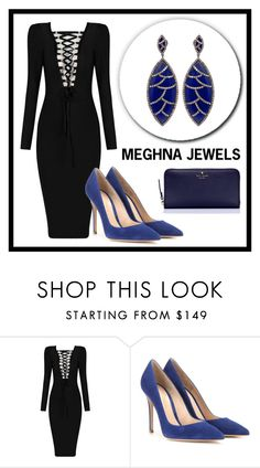 """Meghna Jewels #1"" by amra-sarajlic ❤ liked on Polyvore featuring Bora Bora, Gianvito Rossi, Kate Spade and meghnajewels"