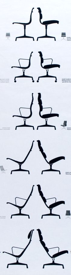 Silhouettes of #Eames Aluminum Group and #Eames Soft Pad Group chairs by @hermanmiller @dwrpins See our website to learn more