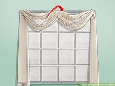 How to Drape Window Scarves. A window scarf, smartly hung, can highlight an entire room. Use a window scarf to cover up a curtain rod, or install scarf hooks to hang a window. Scarf Curtains, Hanging Curtains, Drapes Curtains, Sheer Drapes, Living Room Drapes, Window Treatments Living Room, Living Rooms, Window Swags, Window Coverings