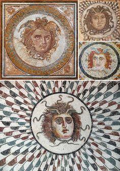 Lo sguardo di Medusa tra arte e leggenda – DidatticarteBlog Medusa Art, Clash Of The Titans, Mosaic Art, Mythical Creatures, Erotic Art, Mythology, Vintage World Maps, Aesthetics, 1