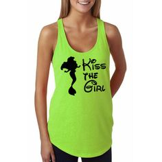 Kiss the Girl – Neon Green - Disney Shirt, Disney Clothing, Disney Apparel Shop Him & Gem (www.himandgem.com