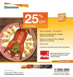 Pines Kitchen: Discount 25% On Food (Danamon)